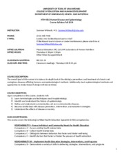 HTH 4503-Fall 2014 Syllabus