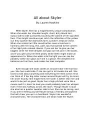 All about Skyler