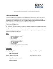 Professional resume business