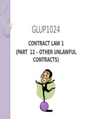 Part_12-Other_Unlawful_Contracts