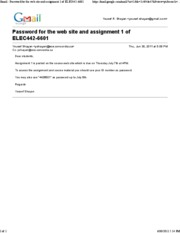 June 30 - Password for the web site and assignment 1 of ELEC442-6601