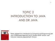 CS 1026 Introduction to Java