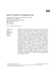 impact of virtulization on management systems