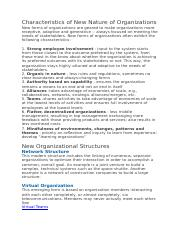 Characteristics of New Nature of Organizations.docx