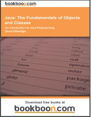 Java_ The Fundamentals of Objects and Classes