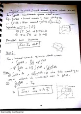 emch 211 Moment of Inertia Notes