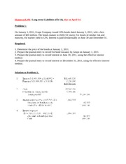 HW_9 Long-term Liabilities with solution