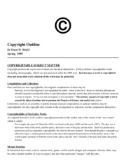 Copyright Outline - Stiefel