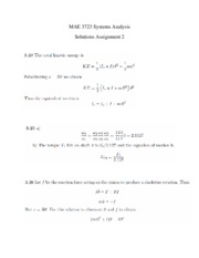Solutions Assignment 2