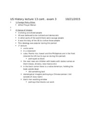 US History lecture 13 cont