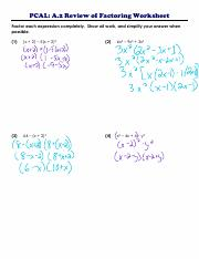 PCAL A.2c Day 2 Review of Factoring Worksheet.pdf