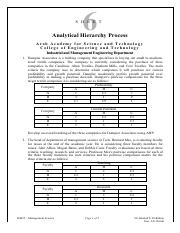 IM425 - Sheet 6 - Analytical Hierarchy Process.pdf