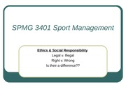 Ethics and Social Responsibility Powerpoint