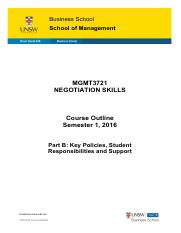 MGMT3721 Negotiation Skills Course Outline Part B Semester 1 2016.pdf