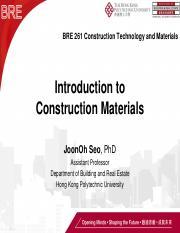 Week 6] Tutorial_concrete vs  steel pdf - BRE 261 Construction
