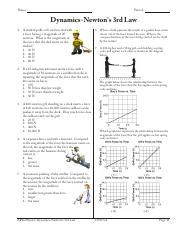 Dynamics-Newton's 2nd Law - Name Period Dynamics-Newton's 2nd Law 1 ...