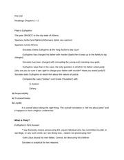 euthyphro essay question