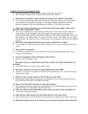 Exam Two Chapter Study Questions - Chapters 10 and 6