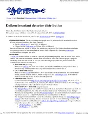 Daikon invariant detector distribution