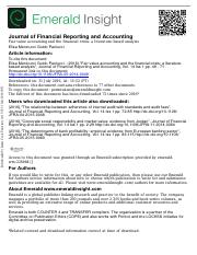 Fair value accounting and the financial crisis a literature-based analysis