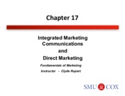 Chapter 17- Integrated Marketing Communications and Direct Marketing