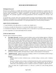 BBA RESEARCH NOTES I