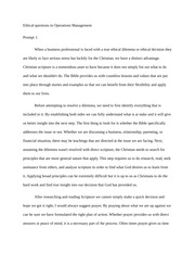 Ethical Questions - ch1 - Essay