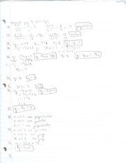 Perpendicular and Parallel equations hw
