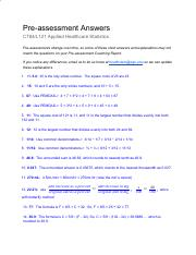 C784 Apploied Healthcare Sataistics Preassessment Answer.pdf