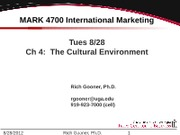 Ch 4 The Cultural Environment v12-0828