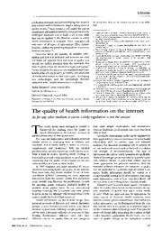 2_The Quality of Health Information on the Internet - Purcell