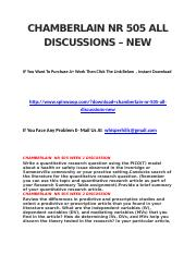 CHAMBERLAIN NR 505 ALL DISCUSSIONS – NEW.docx