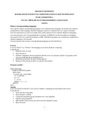 SCS 315 PRINCIPLES OF PROGRAMMING LANGUAGES NOTES.docx