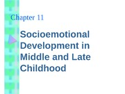 socioemotional- late childhood