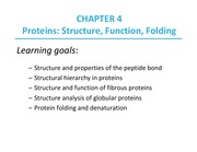 Chapter4.ProteinStructureFunctionFolding