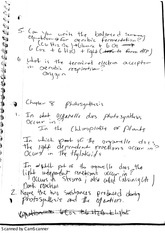 BIOL 1730 Notes ( ch 8 photosynthesis)