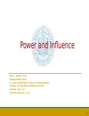 Chapter 13 - Power and Influence