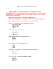 Units 6 and 11 Review Packet Answer Key : SCIENCE Biology ...