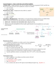 GenChem2- Lecture Topic 4 - Acids and Bases Notes
