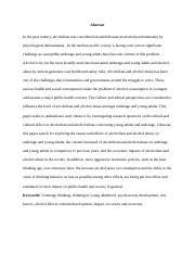 ALCOHOLISM AND ALCOHOL ABUSE IN UNDERAGE AND YOUNG ADULTS draft paper.docx