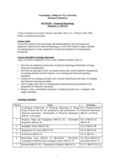 BUS20283 - Course Outline