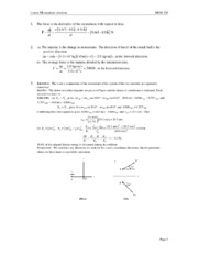 Solution_Tutorial_MS811M_Chapter 6 - Linear Momentum