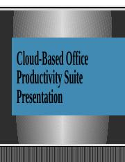 Cloud-Based Office Productivity Suite Presentation (1)