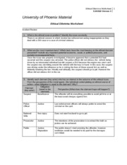 ethical dillemma worksheet Ethical dilemma w5 due nov 11 case study four worksheet respond to the following questions in 1,500 to 1,750 words 1 why is this an ethical dilemma.