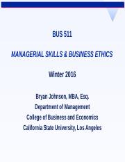 [BJ] BUS 511 01 02 THEORIES ETHICS.ppt