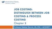 Job costing It's difference from Processing Costing