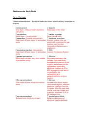 Study Guide 1 Cardiovascular.docx