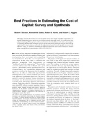 Best Practices in Estimating the Cost of Capital