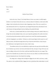 analysis essay (sweat)