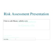 Risk Assessment Presentation